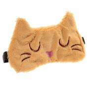Slaapmasker Pluche Kat bruin