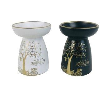 Olie & Wax Geurbrander levensboom wit