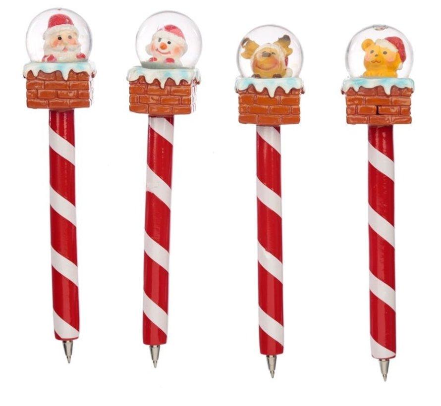 Kerstmis pen met sneeuwbol