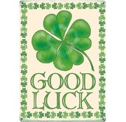 Metalen bordje good luck
