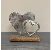 Dubbele Aluminium hart op blok