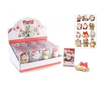 Magneet kerstfiguren in cadeau verpakking