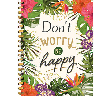 Notitieboekje Don't worry, be happy
