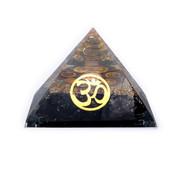 Orgoniet chakra piramide zwarte toermalijn met ohm