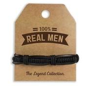 Armband Real Men van echt leder