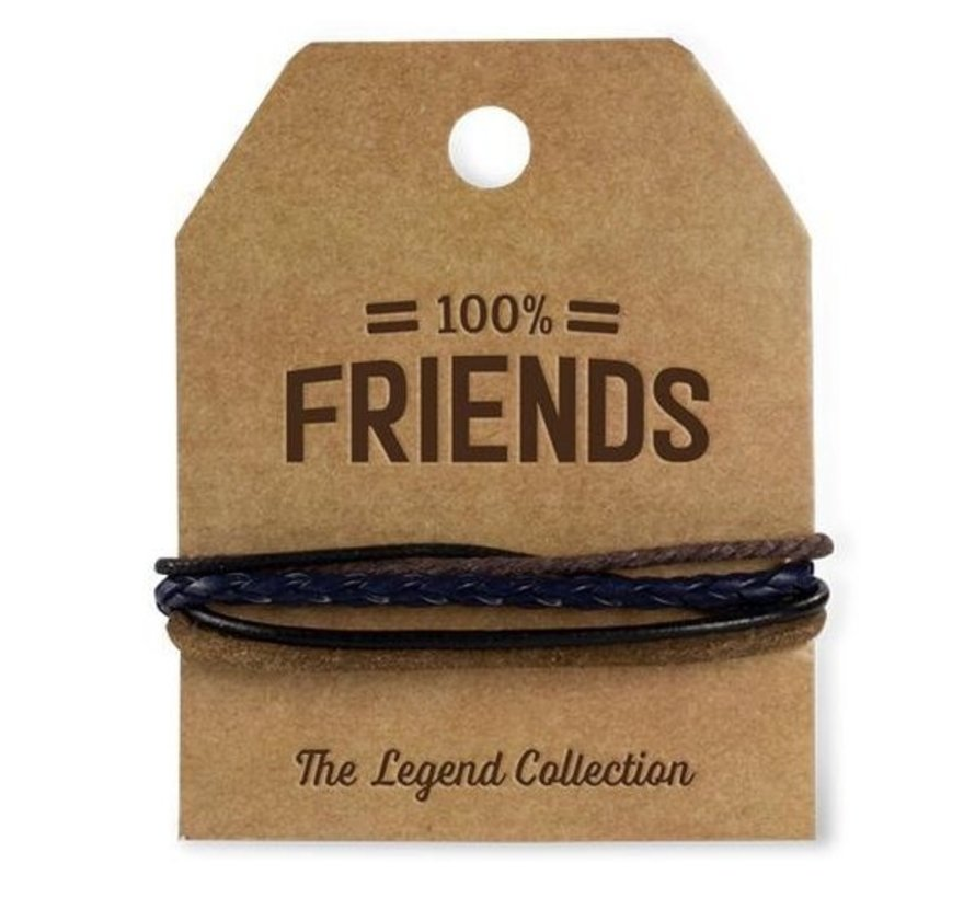 Armband Friends van echt leder