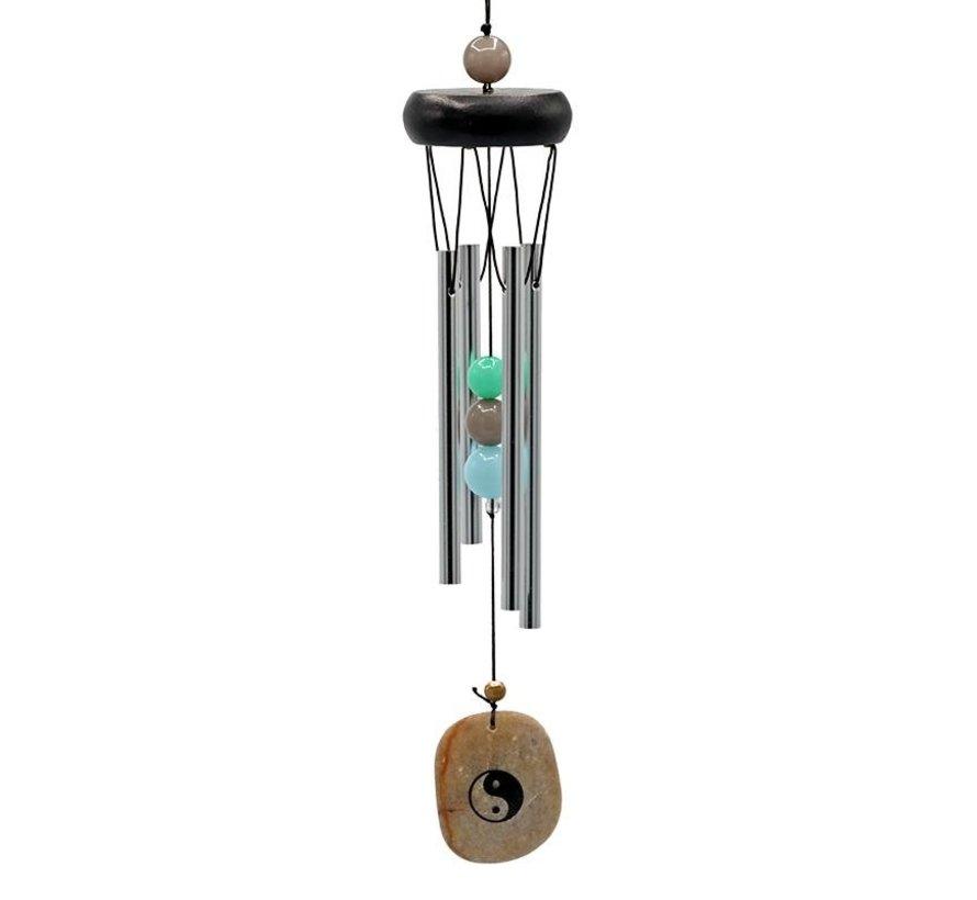 Windorgel vier staafjes met Yin Yang windvanger