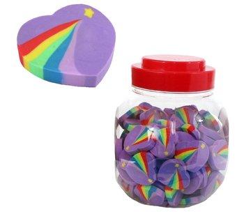 Gum regenboog hartje 4 stuks