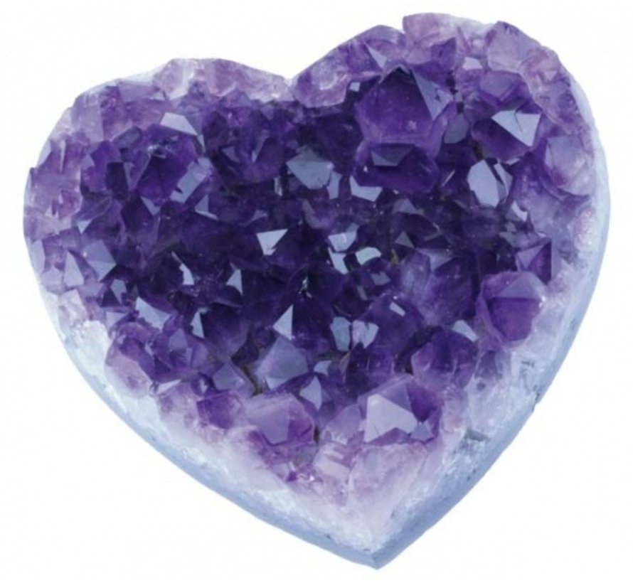 Amethist hart ruw