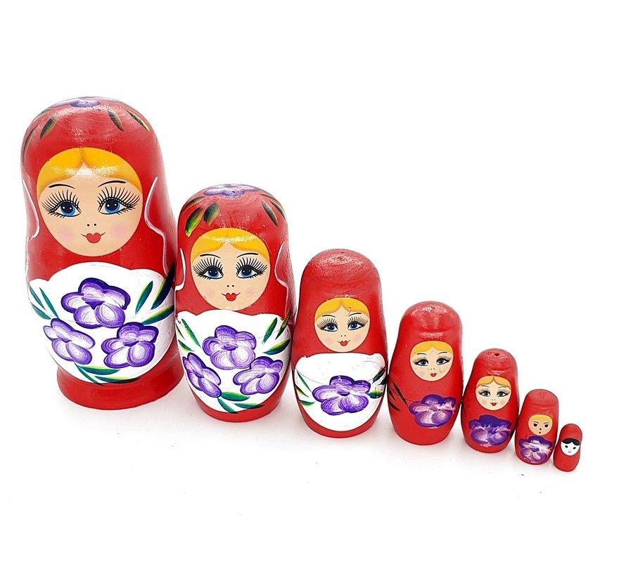 Matroesjka pop rood 17 cm