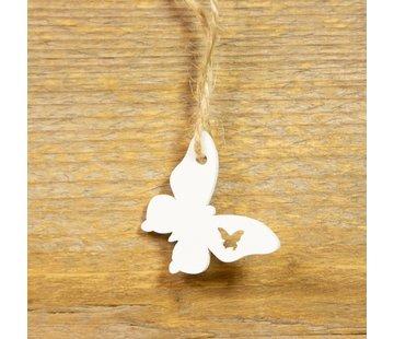 Hanger vlinder hout 10 stuks