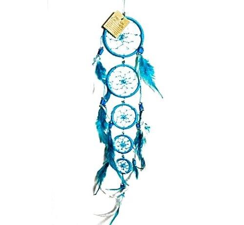 Dromenvanger 5 ringen turkoois
