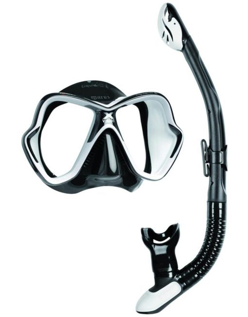 Huur een mares x-vison duik masker met snorkel