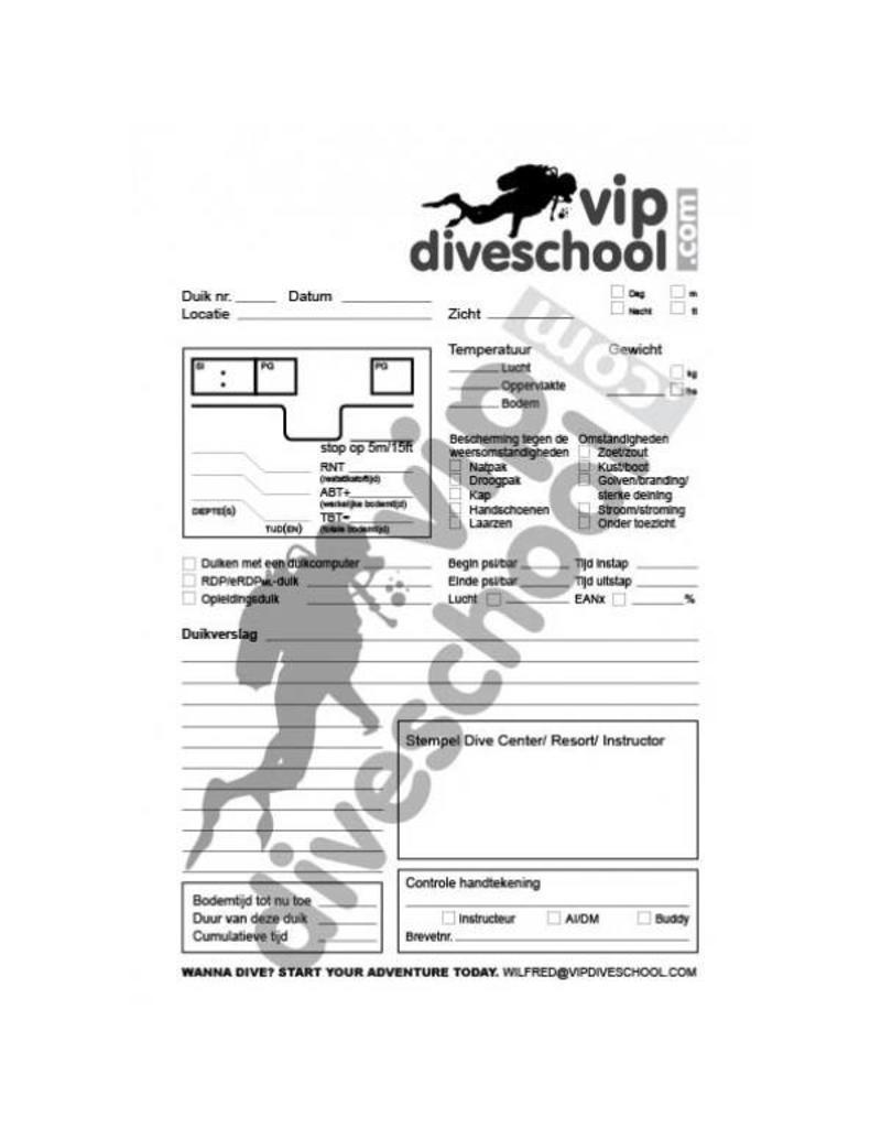 Log-Nachfüllung / REFILL/ NAVULLING / PADI/ SSI