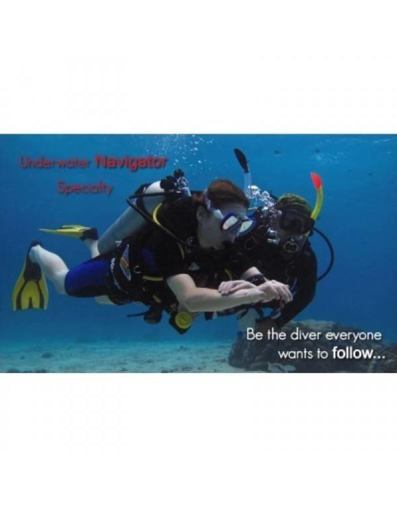 Under water navigator PADI specialty