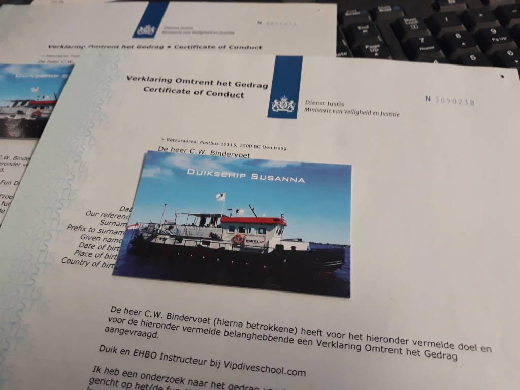 Verklaring omtrent het gedrag (VOG) | Certificate of Conduct