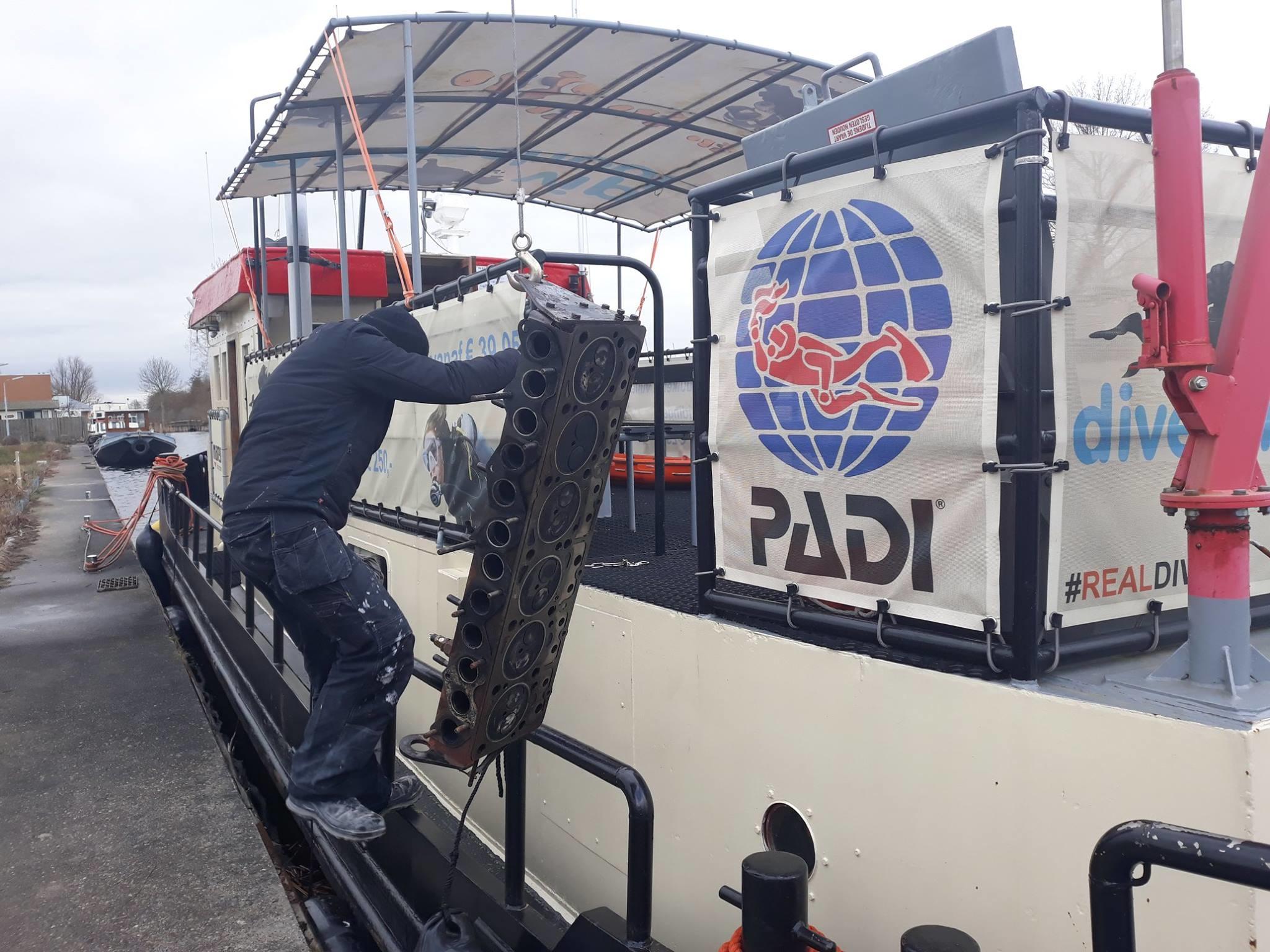 Onderhoud duikschip Susanna | Bootduiken te Vinkveen