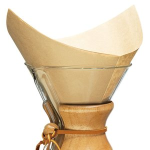 Chemex 100 Prefolded Unbleached filter squares