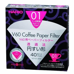 Hario Paper filters for V60-01 dripper (40 pcs)