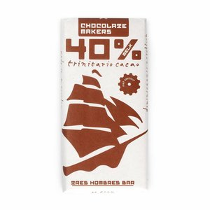 Chocolatemakers Bio Tres Hombres milk 40% with sea salt