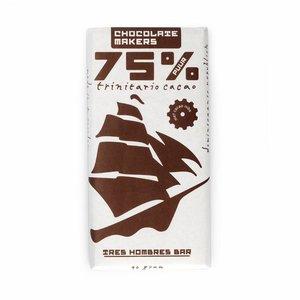 Chocolatemakers Bio Tres Hombres puur 75% met nibs