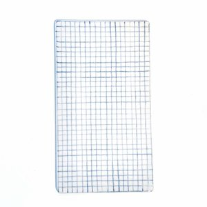 Anne Black Large Tile Small Squares blue