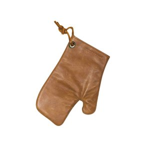 Dutch Deluxes Oven glove  - vintage camel - full grain leather with heat resistant lining