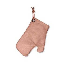 Dutch Deluxes Oven glove  - dusty pink - full grain leather with heat resistant lining