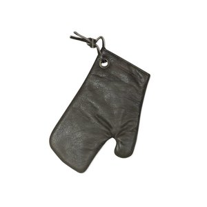 Dutch Deluxes Oven glove  - vintage grey - full grain leather with heat resistant lining