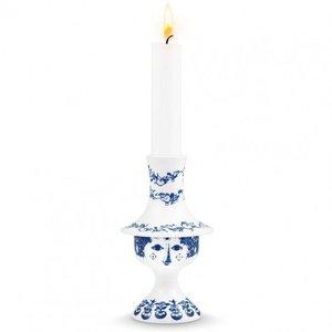 Bjørn Wiinblad Candlestick, Felicia, blue, H 14.5 cm