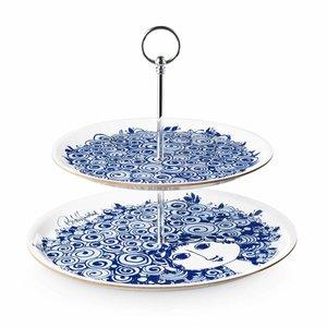 Bjørn Wiinblad Etagere, Rosalinde, blue, 2 layer