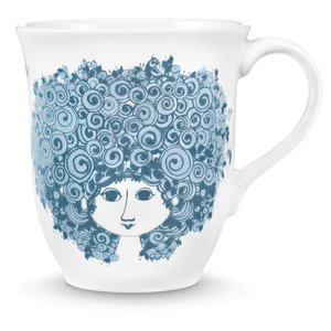 Bjørn Wiinblad Mug, Rosalinde, dusty blue, 35 cl