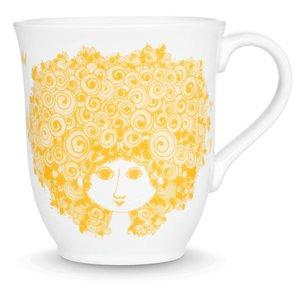 Bjørn Wiinblad Mug, Rosalinde, yellow, 35 cl