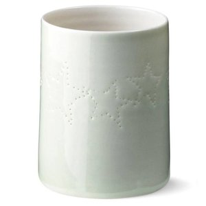 Anne Black Seam Christmas Candle cup green