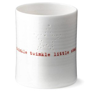 Anne Black Twinkle Twinkle Candle cup white