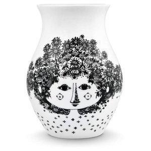 Bjørn Wiinblad Vase, Felicia, black, H 18 cm