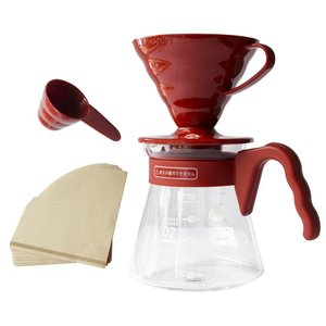 Hario Hario V60 Pour Over Kit Red - 02