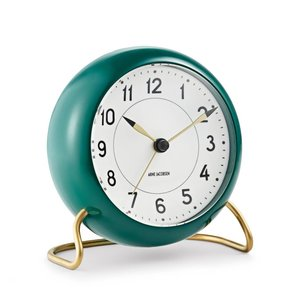 Arne Jacobsen Station table clock green