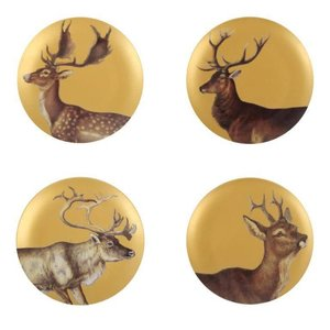 &klevering Golden deer plates