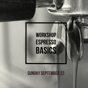 brander Workshop Espresso basics - 22 september 2019
