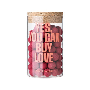 Simply Chocolate Dragée Jar - Yes you can buy love