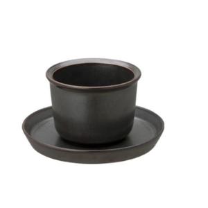 Kinto LT Kyusu cup & saucer black