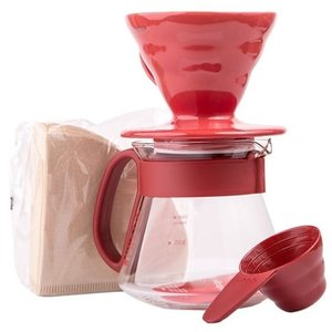 Hario V60 Dripper & red pot set