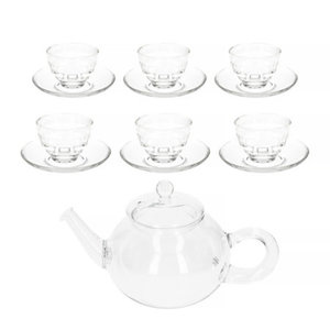 Hario Donau 800ml Tea Pot + Yunomi Tea Glass Set