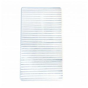 Anne Black Large Tile Stripes width blue