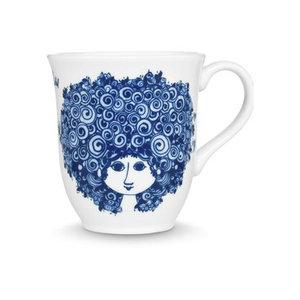 Bjørn Wiinblad Mug, Rosalinde, blue, 35cl