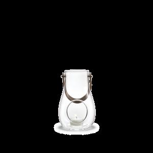 Holmegaard Lantern leather handle, clear, 16cm