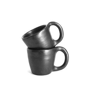 Indigena Black Pottery Mug