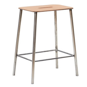 Frama CPH Adam Stool Natural leather/raw steel H50