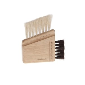 Iris Hantverk Computer brush combi - oak, horsehair dark/light